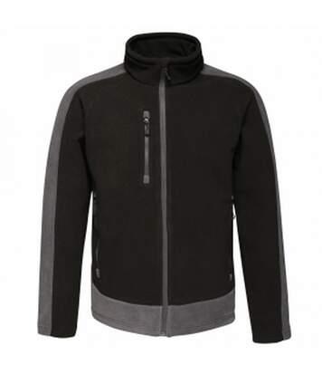 Regatta Mens Contrast Fleece Jacket (Black/Seal Grey) - UTRG3568