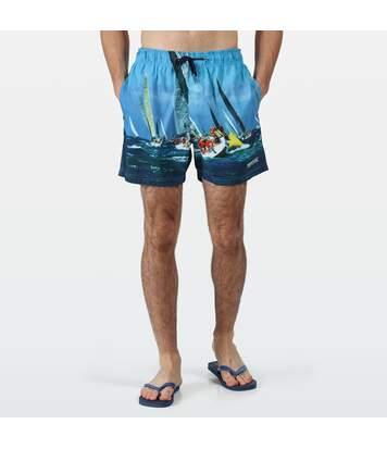 Regatta Mens Mawson II Swim Shorts (Nautical Blue) - UTRG4023
