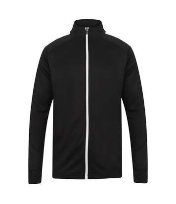 Finden And Hales Mens Knitted Tracksuit Top (Black/White) - UTPC3354