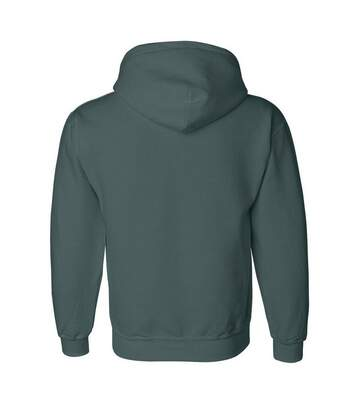 Gildan Heavyweight DryBlend Adult Unisex Hooded Sweatshirt Top / Hoodie (13 Colours) (Forest Green) - UTBC461