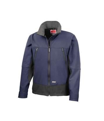 Result Mens Softshell Activity Waterproof Windproof Jacket (Navy/Black) - UTBC856