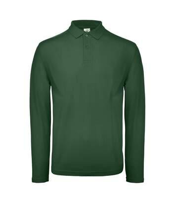 B&C ID.001 Mens Long Sleeve Polo (Racing Green) - UTBC3942