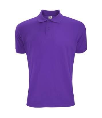 SG Mens Polycotton Short Sleeve Polo Shirt (Purple) - UTBC1084