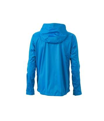 Veste softshell à capuche - homme JN1098 bleu aqua - coupe-vent imperméable