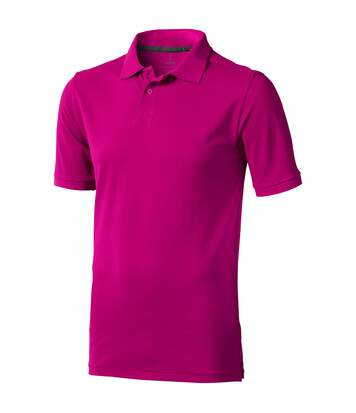 Elevate Mens Calgary Short Sleeve Polo (Pink) - UTPF1816