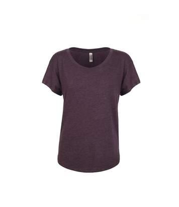 Next Level - Tri-Blend Dolman T-Shirt - Femme (Violet d'évêque) - UTPC3494