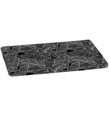 Paris Prix - Tapis De Bain Microfibre amazonia 45x75cm Noir