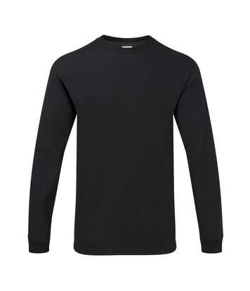 Gildan Mens Hammer Heavyweight Long Sleeve T-Shirt (Black) - UTPC3068