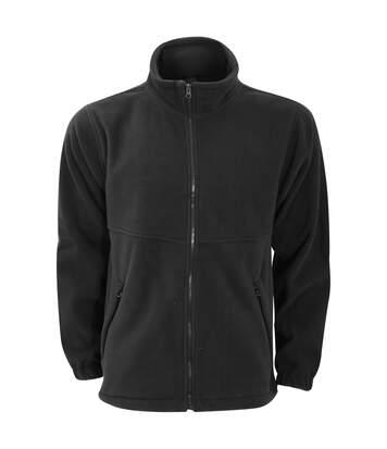 Ultimate Clothing Unisex Full Zip Fleece Top (Black) - UTBC3346
