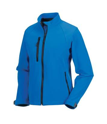 Jerzees Colours Ladies Water Resistant & Windproof Soft Shell Jacket (Azure Blue) - UTBC561