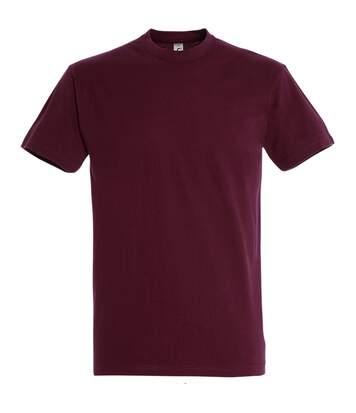 SOLS Mens Imperial Heavyweight Short Sleeve T-Shirt (Burgundy) - UTPC290