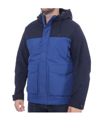 Parka Bleue Homme Selected Color Block