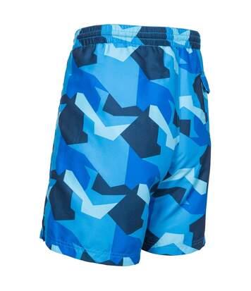 Trespass Mens Chiggers Mid Length Swim Shorts (Black Camo) - UTTP4691