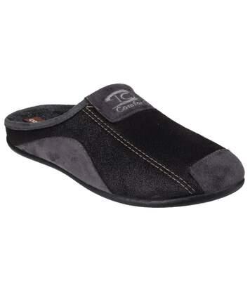 Cotswold Mens Westwell Slip On Mule Slippers (Black) - UTFS4361