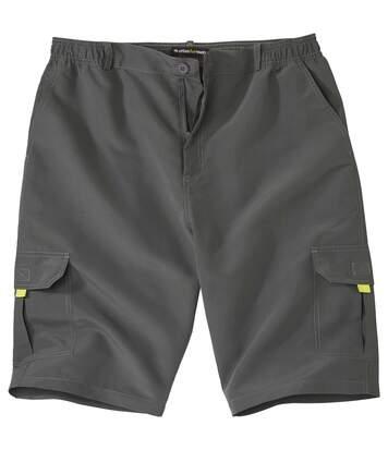 Men's Sporty Microfibre Cargo Shorts - Grey