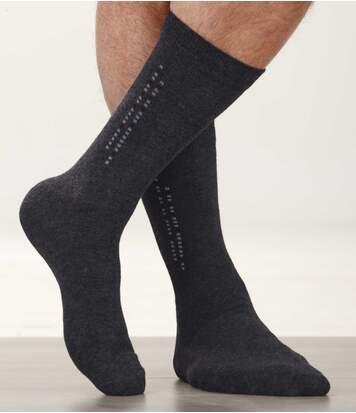 Sada 4 párů barevných ponožek