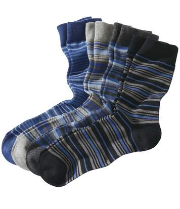 Set van 4 paar gestreepte sokken