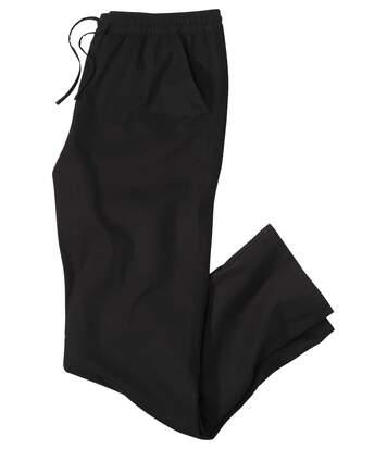 Men's Black Casual Canvas Trousers