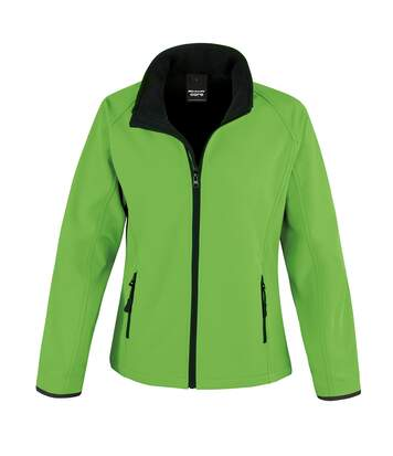 Result Womens/Ladies Core Printable Softshell Jacket (Vivid Green / Black) - UTRW3696