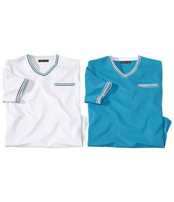 2er-Pack T-Shirts mit V-Ausschnitt