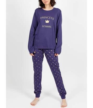 Tenue d'intérieur pyjama pantalon Princess marine Admas