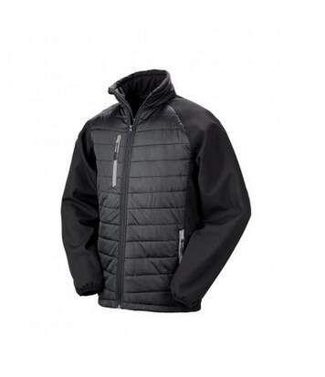 Result Mens Black Compass Padded Soft Shell Jacket (Black/Grey) - UTPC3326