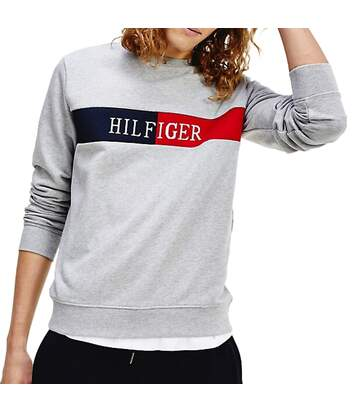 Sweat Gris Homme Tommy Hilfiger Intarsia