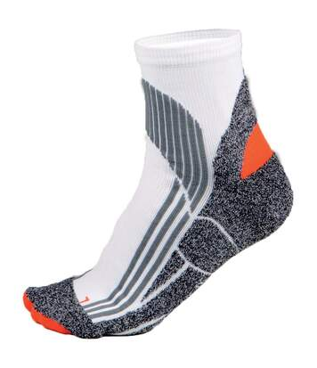 Kariban Proact Mens Technical Breathable Sports Socks (White/ Grey/ Orange) - UTRW4235