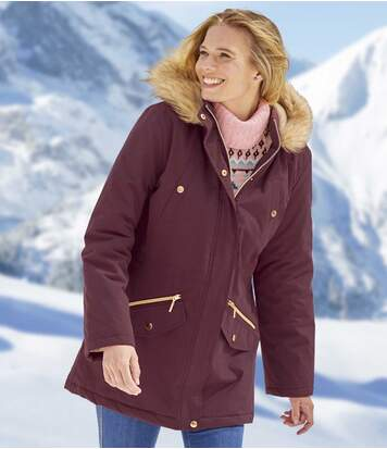 Parka à Capuche Fausse Fourrure Atlas for Women