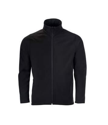 SOLS Mens Race Full Zip Water Repellent Softshell Jacket (Black) - UTPC2549