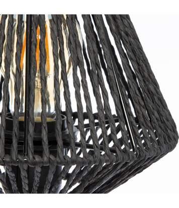 Atmosphera - Lampe à poser Corde coloris Noir Jily H 34 cm Jungle pop