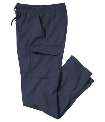 Men's Navy Casual Cargo Trousers