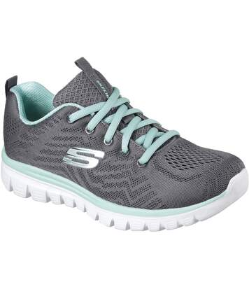 Skechers Womens/Ladies Graceful Get Connected Sports Trainer (Charcoal) - UTFS7076