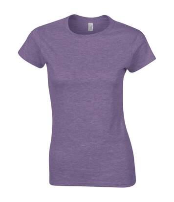 Gildan - T-Shirt À Manches Courtes - Femme (Violet chiné) - UTBC486