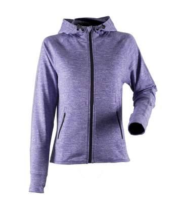 Tombo Teamsport Womens/Ladies Lightweight Running Hoodie With Reflective Tape (Purple Marl) - UTRW4790
