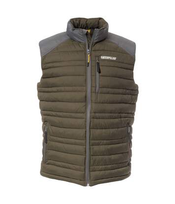 Caterpillar Mens C1320012 Defender Insulated Sleeveless Bodywarmer (Moss) - UTFS4024