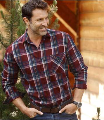 Men's Checked Flannel Shirt