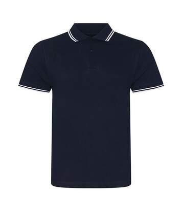 AWDis Mens Stretch Tipped Piqu Polo Shirt (Navy/White) - UTPC3155