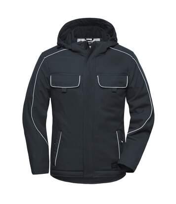 Veste blouson de travail rembourrée softshell - JN886 - gris carbone