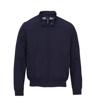 Brave Soul Mens Dagenham Showerproof Full Zip Nylon Taslan Jacket (Navy) - UTRW3873