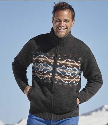 Zateplený sveter na zips Calgary
