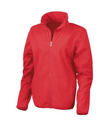 Result Womens/Ladies La Femme® Osaka Combed Pile Softshell Jacket (Waterproof, Windproof And Breathable) (Red) - UTRW3214