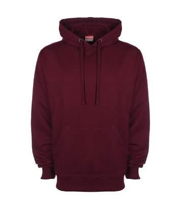 FDM Unisex Plain Original Hooded Sweatshirt / Hoodie (300 GSM) (Burgundy) - UTBC2024