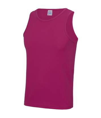 Just Cool Mens Sports Gym Plain Tank / Vest Top (Lime Green) - UTRW687