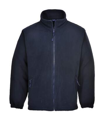 Portwest Mens Aran Full Zip Fleece Top (Black) - UTRW4363
