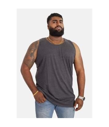 Duke Mens Fabio-2 Kingsize Muscle Vest (Charcoal Melange) - UTDC172
