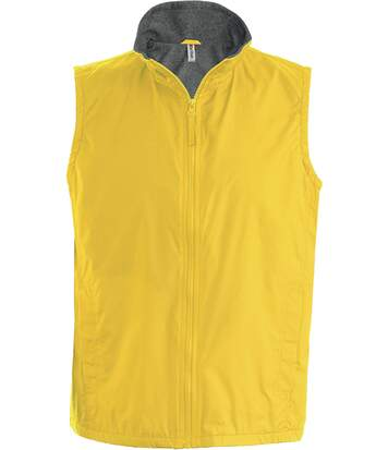 RECORD > BODYWARMER DOUBLÉ POLAIRE Yellow / Grey