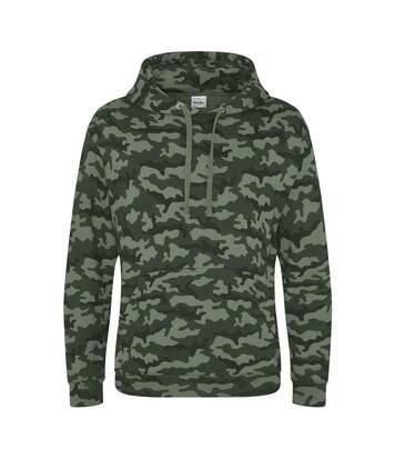 Sweat-shirt à capuche camo homme - JH014 - vert camouflage