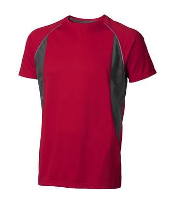 Elevate Mens Quebec Short Sleeve T-Shirt (Red/Anthracite) - UTPF1882