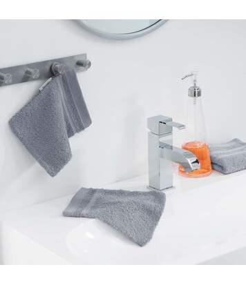 Paris Prix - Lot De 2 Gants De Toilette vitamine 15x21cm Gris